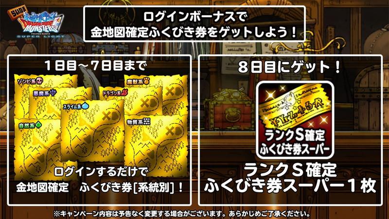 金地図確定ふくびき券[系統別]から出るモンスターの一覧はこちら!!!