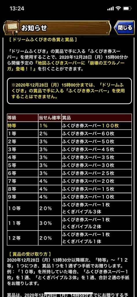 超魔王崩壊の王ウルノーガ1週間限定150連&ドリームくじ当選結果!